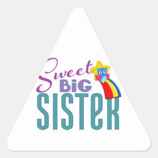 Hermana grande dulce pegatina triangular