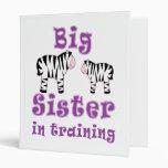 Hermana grande en cebra del entrenamiento