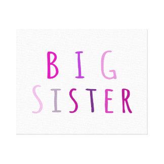 Hermana grande en rosa impresiones de lienzo
