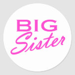 Hermana grande etiquetas redondas
