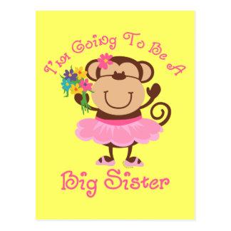 Hermana grande futura del mono postales