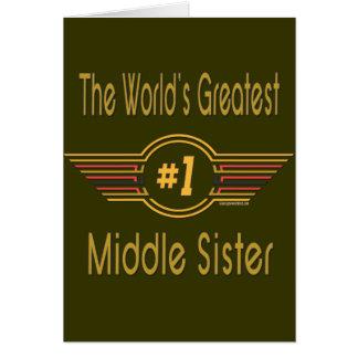Hermana grande, media y pequeña tarjeta