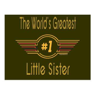 Hermana grande, media y pequeña tarjetas postales