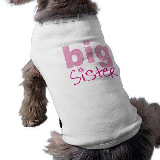 Hermana grande playera sin mangas para perro