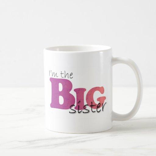 Hermana grande - rosa púrpura tazas de café