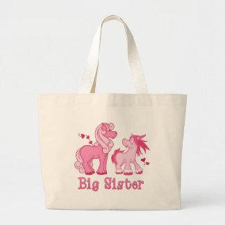 Hermana grande rosada de Ponys Bolsa Tela Grande