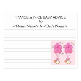 hermana ideas de la fiesta de bienvenida al bebé tarjetas postales