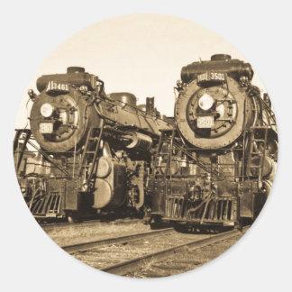 """""""Hermana"""" las locomotoras 3461 y 3501 del Pegatinas Redondas"""