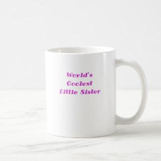 Hermana más fresca de los mundos la pequeña taza