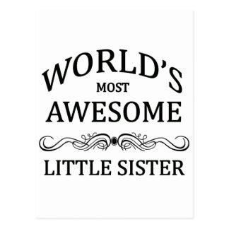 Hermana más impresionante del mundo la pequeña postales