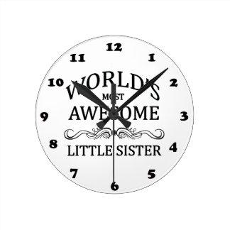 Hermana más impresionante del mundo la pequeña reloj redondo mediano