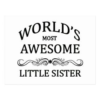 Hermana más impresionante del mundo la pequeña tarjeta postal