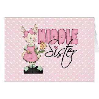 Hermana media del conejito del país (rosa) tarjeton
