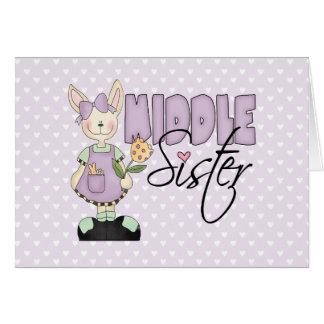 Hermana media del conejito del país (violeta) tarjetas