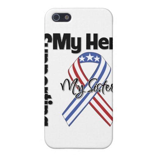 Hermana - militar que apoya a mi héroe iPhone 5 carcasa