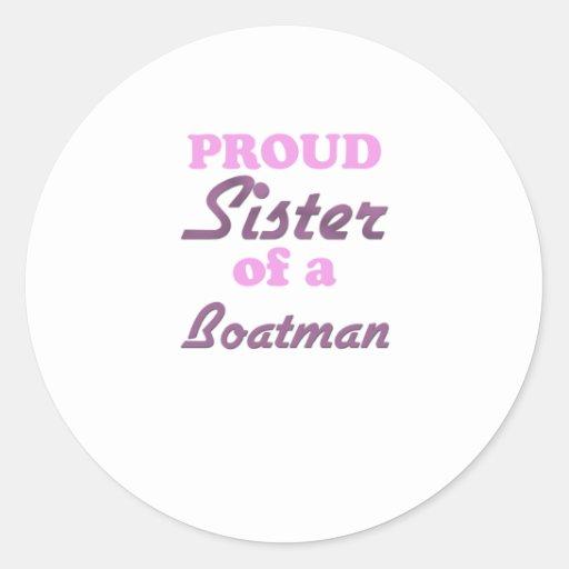 Hermana orgullosa de un barquero pegatina