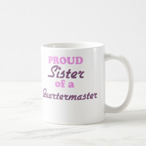 Hermana orgullosa de un intendente taza básica blanca