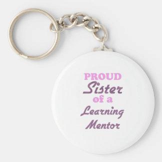 Hermana orgullosa de un mentor de aprendizaje llavero personalizado