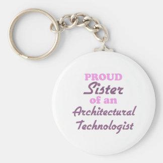 Hermana orgullosa de un tecnólogo arquitectónico llavero personalizado