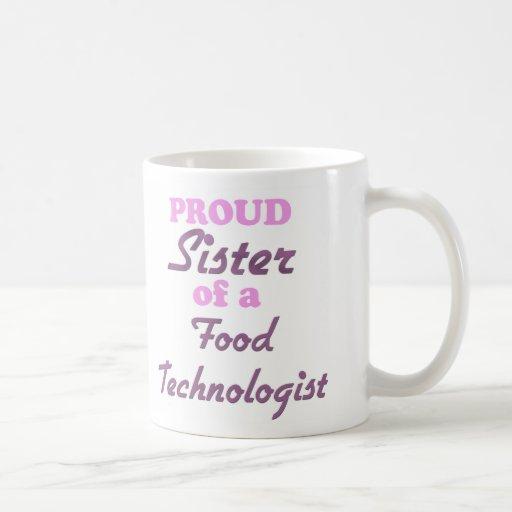 Hermana orgullosa de un tecnólogo de la comida tazas de café