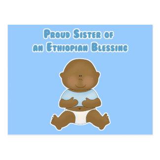 Hermana orgullosa de una bendición etíope postales