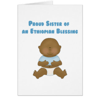 Hermana orgullosa de una bendición etíope tarjeta de felicitación
