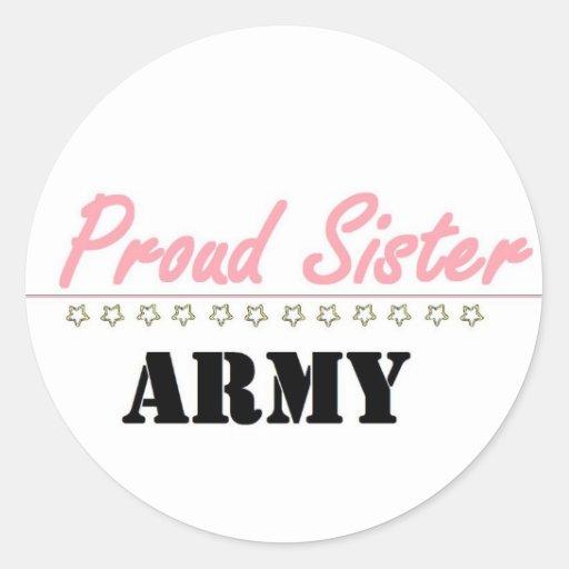 hermana orgullosa del ejército (1) pegatinas redondas