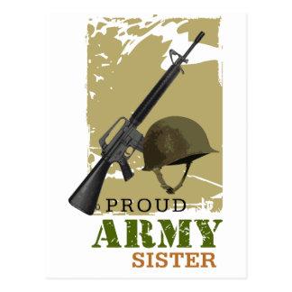 Hermana orgullosa del ejército tarjetas postales