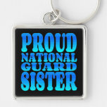 Hermana orgullosa del Guardia Nacional Llavero Personalizado