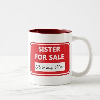 Hermana para la venta taza de dos tonos
