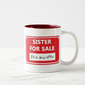 Hermana para la venta taza dos tonos