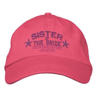 Hermana personalizada de las estrellas de la novia gorra bordada