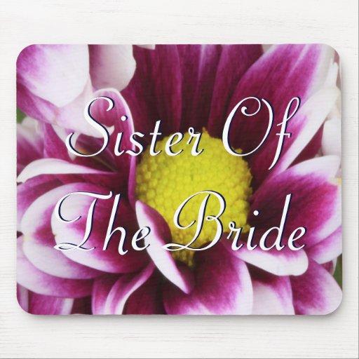 Hermana púrpura del ramo de la novia tapetes de raton