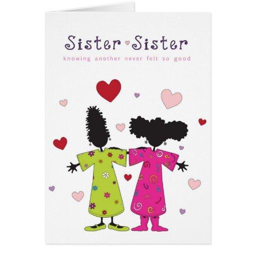 Hermana - tarjeta de la hermana