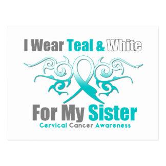 Hermana tribal de la ayuda de la cinta del cáncer postales