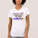 Hermana tribal de la cinta del autismo camisetas