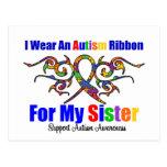 Hermana tribal de la cinta del autismo postal