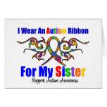 Hermana tribal de la cinta del autismo tarjeta
