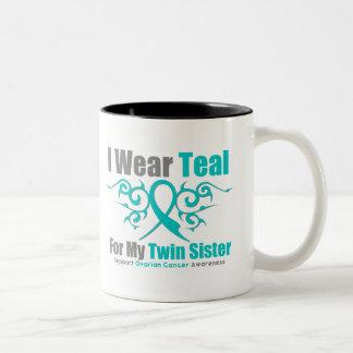 Hermana tribal del gemelo de la cinta del trullo taza de dos tonos