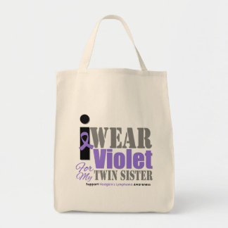 Hermana violeta del gemelo de la cinta - el linfom bolsa