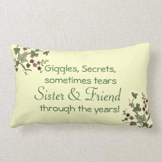Hermana y amigo almohadas