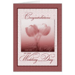 Hermana y su nueva enhorabuena del boda de la tarjeta de felicitación