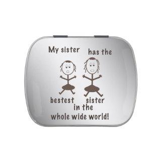 Hermanas, chistosas, personalizable jarrones de dulces