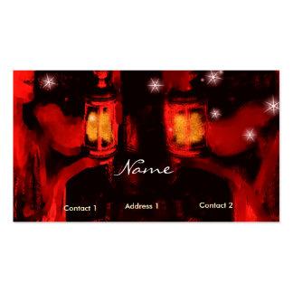 hermanas con la lámpara plantilla de tarjeta de visita