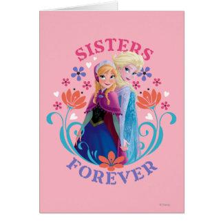 Hermanas de Ana y de Elsa el | con las flores Tarjeta De Felicitación