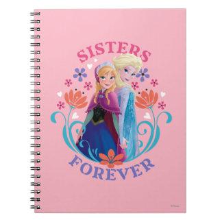Hermanas de Ana y de Elsa para siempre Spiral Notebook
