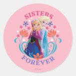 Hermanas de Ana y de Elsa para siempre Etiquetas Redondas