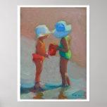 Hermanas de Sunhat - dos chicas en la playa Impresiones
