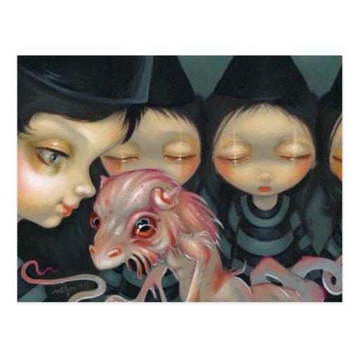 """Hermanas de Witchy: Postal del mascota"""