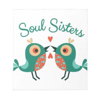 Hermanas del alma bloc de notas
